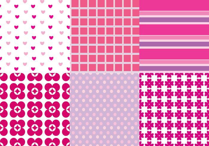 Vetores de padrão cor-de-rosa