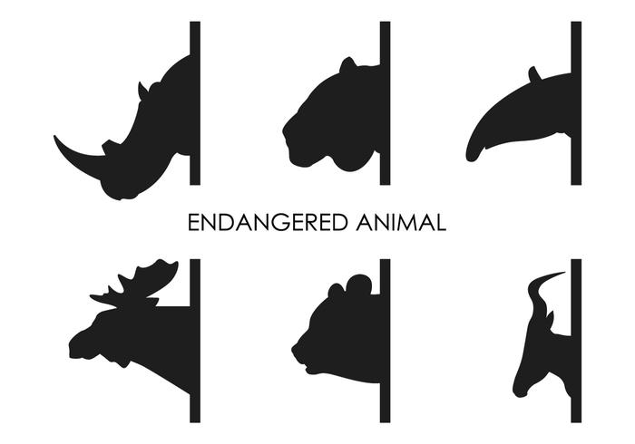 Vector Endangered Animals