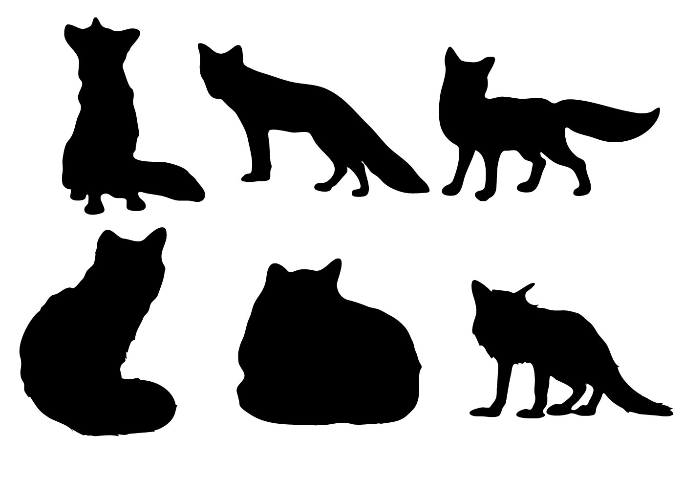fox outline free vector art 3912 free downloads