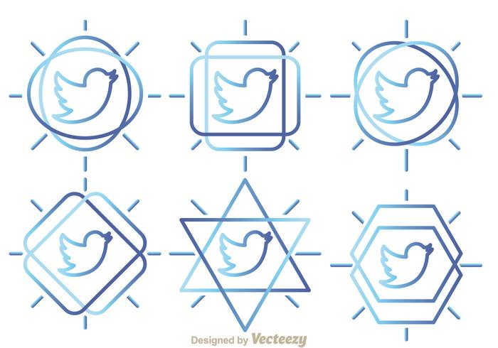 Vetores do Twitter Bird Outline
