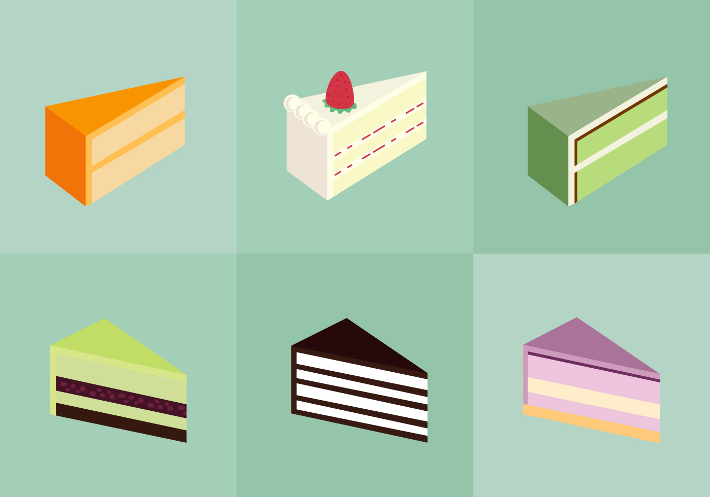 Cake Slice Isolated - Download Free Vector Art, Stock ...