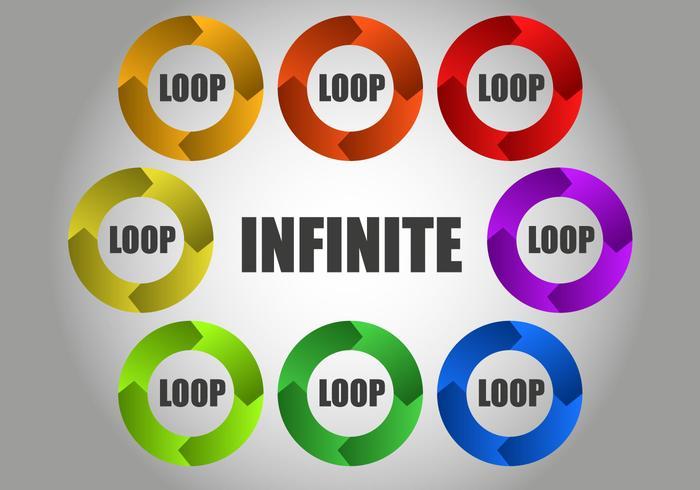 Free Infinite Circular Loop Vector