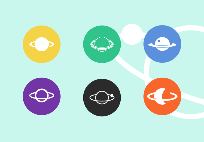 Saturn Vector Icon Pack Vol 4