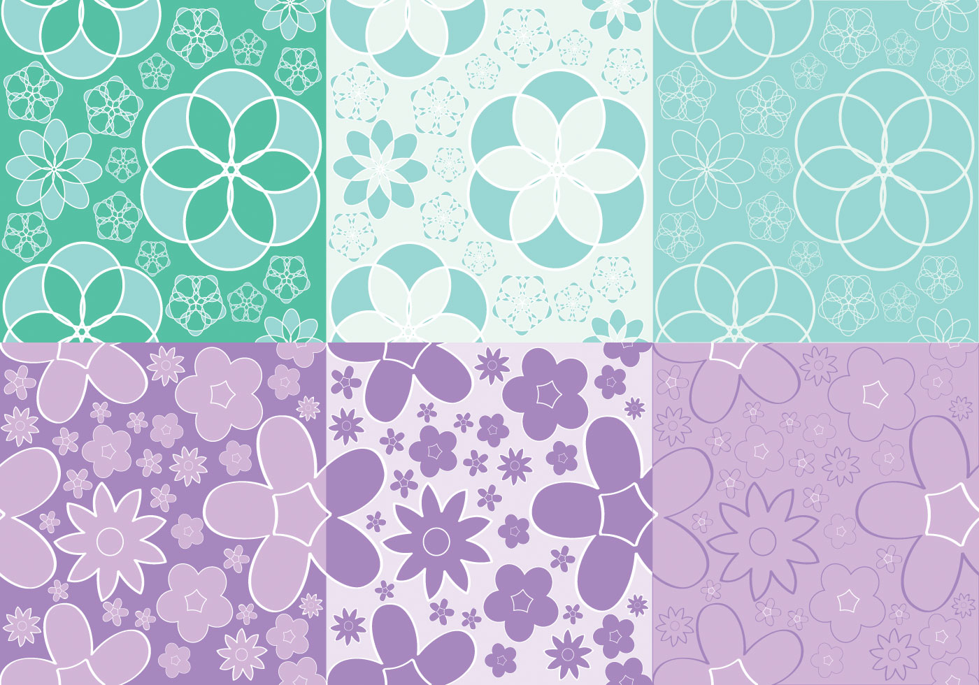 Girly Flowers Pattern Vectors Download Free Vector Art Stock Graphics &amp