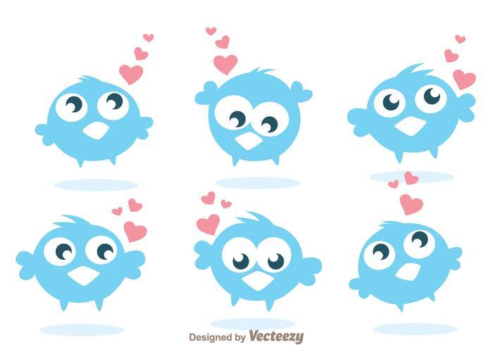 Lustige Twitter-Vogel-Vektoren