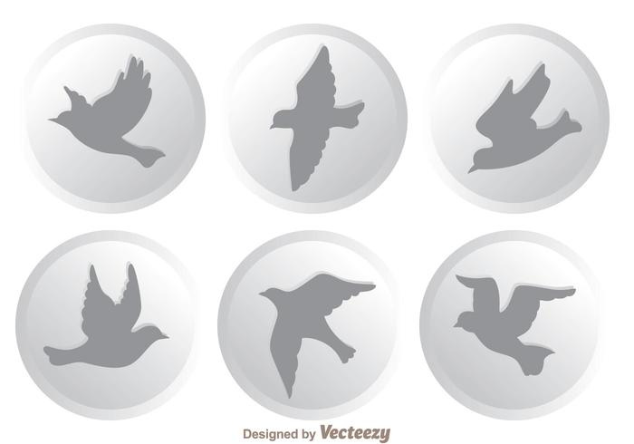 Vector Flying Bird Icons