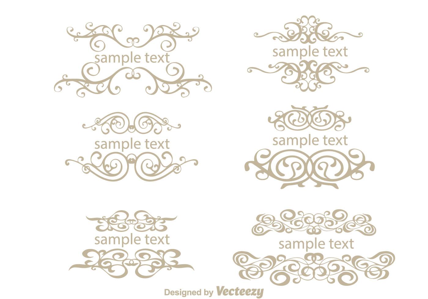 Text Ornamanet Fancy Lines Vectors - Download Free Vector ...  Text Ornamanet ...