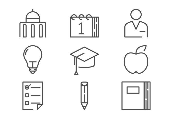Campus Icon Outline Vectors