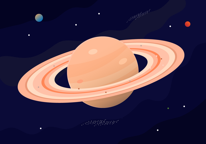 Free Saturn Planet Vector