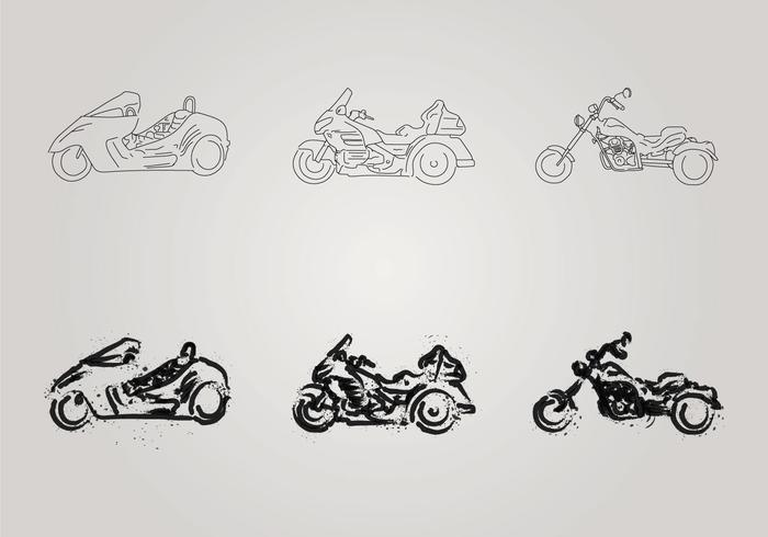 Illustration vectorielle Free Motor Trike