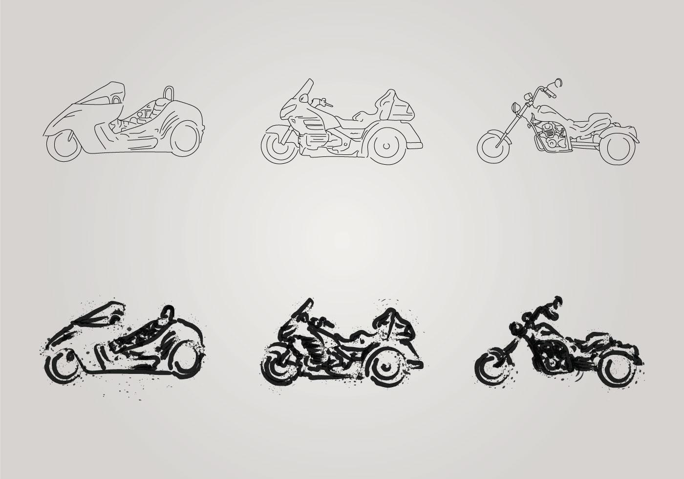 Free Motor Trike Vector Illustration Download Art Wiring Diagram Stock Graphics Images