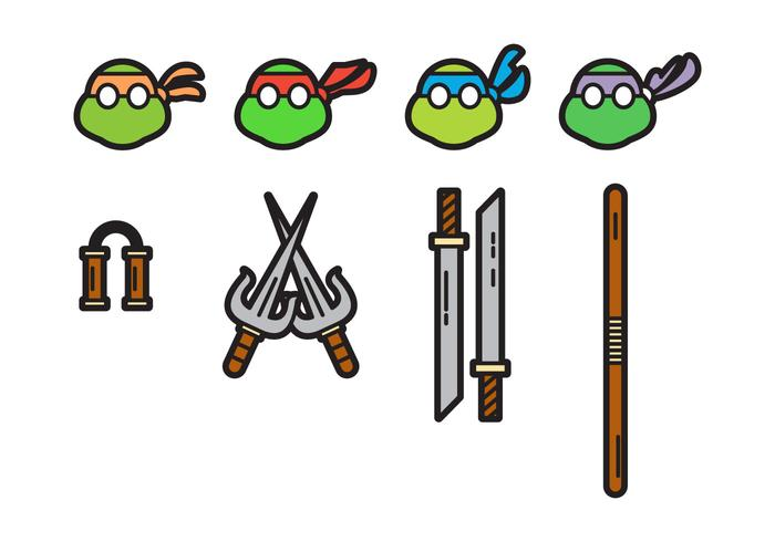 Free Cute Ninja Turtles Vectors