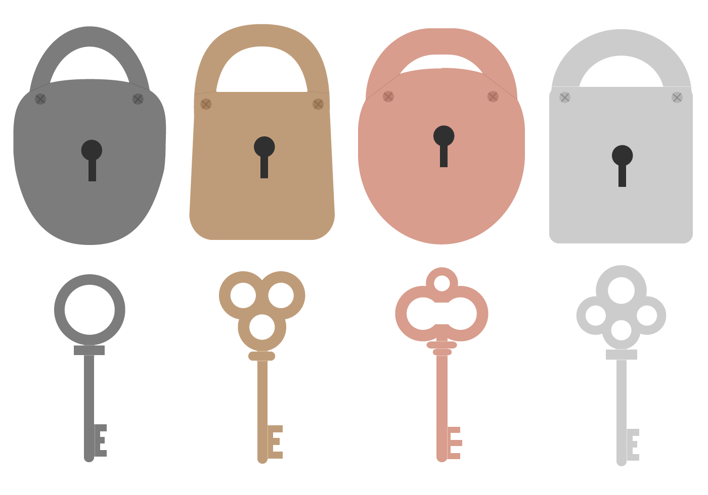 Free Key And Lock Vector Download Free Vector Art Stock