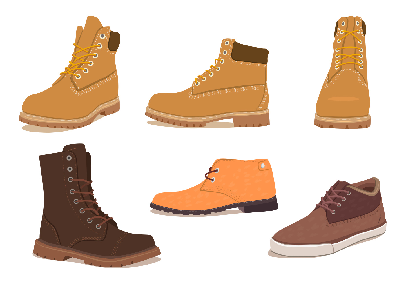 Timberland offers men's boat shoes that can be used for the open waters and for dry land. These shoes have a rubber sole and leather upper. Many of Timberland's boat shoes also come with extra features, such as hand-sewn uppers and cushioned footbeds.