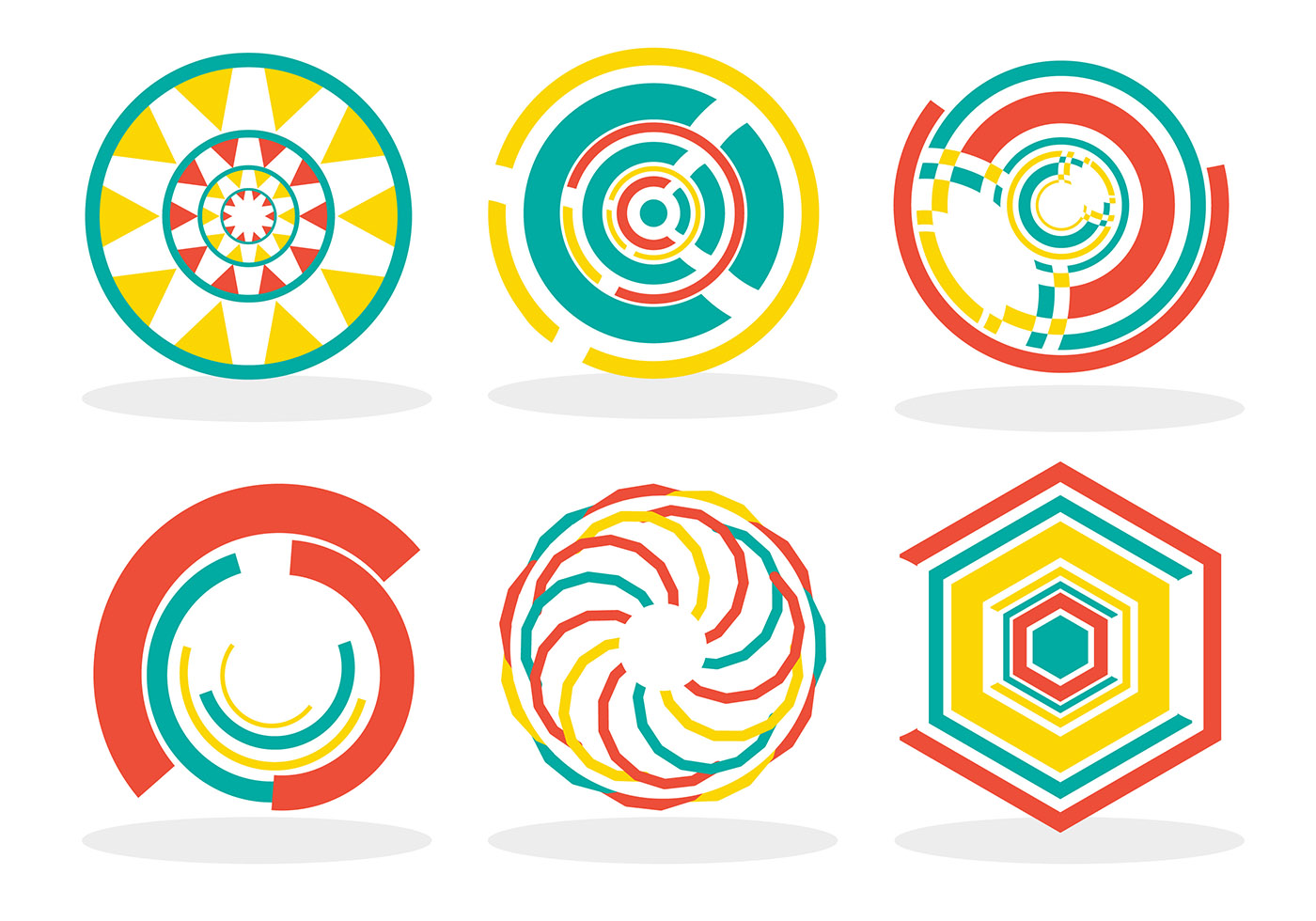 Abstract Rings Vector