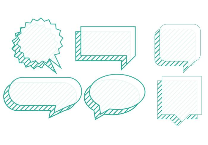 Set of chat bubbles