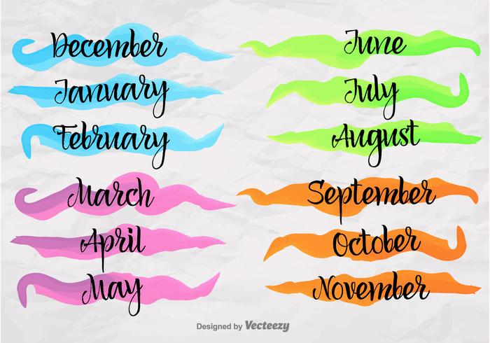 months of the year banners download free vector art stock