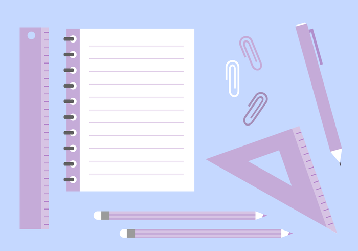 Gratis School Supplies Vector
