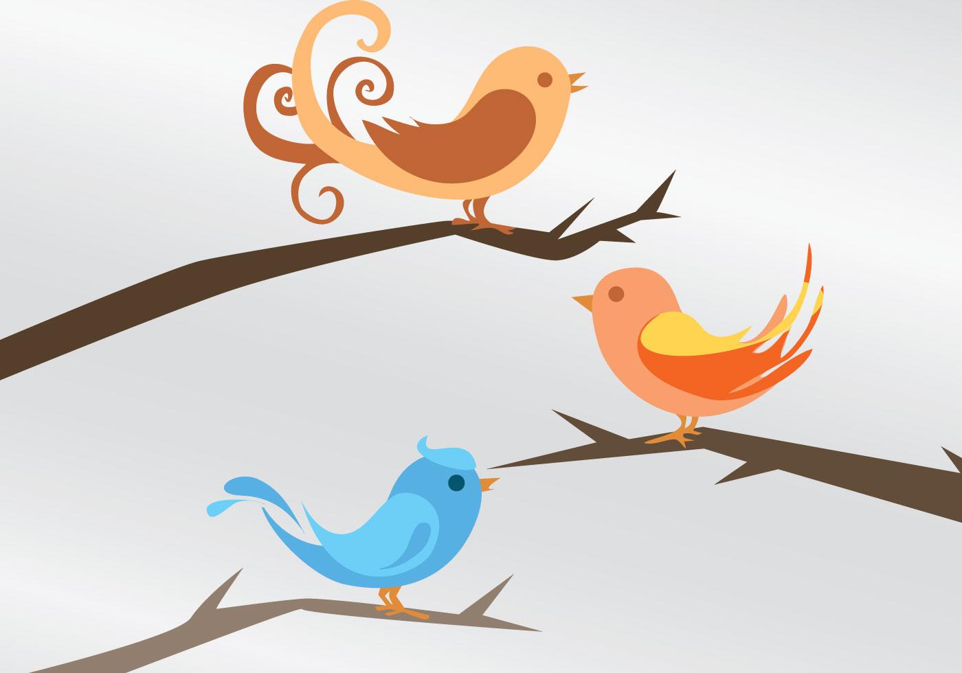 Tres vectores de aves - Descargue Gráficos y Vectores Gratis