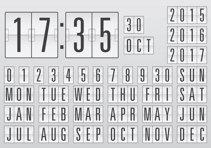 Vector Kalender Counter