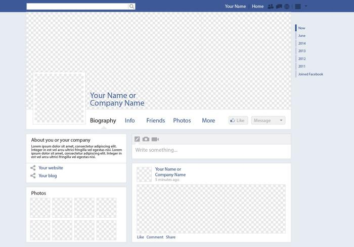 Social Media Page Vector Mockup