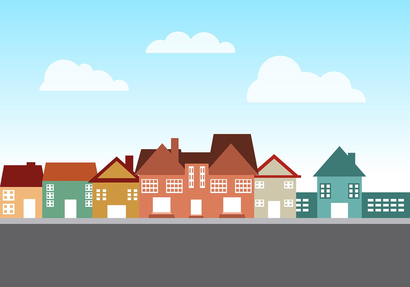 Townhomes Vectors Download Free Vector Art Stock
