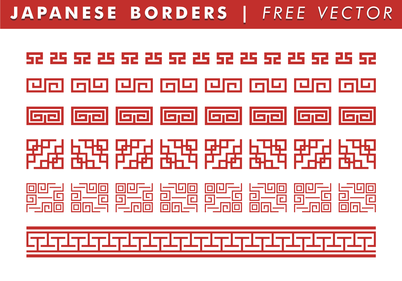 chinese border free vector art