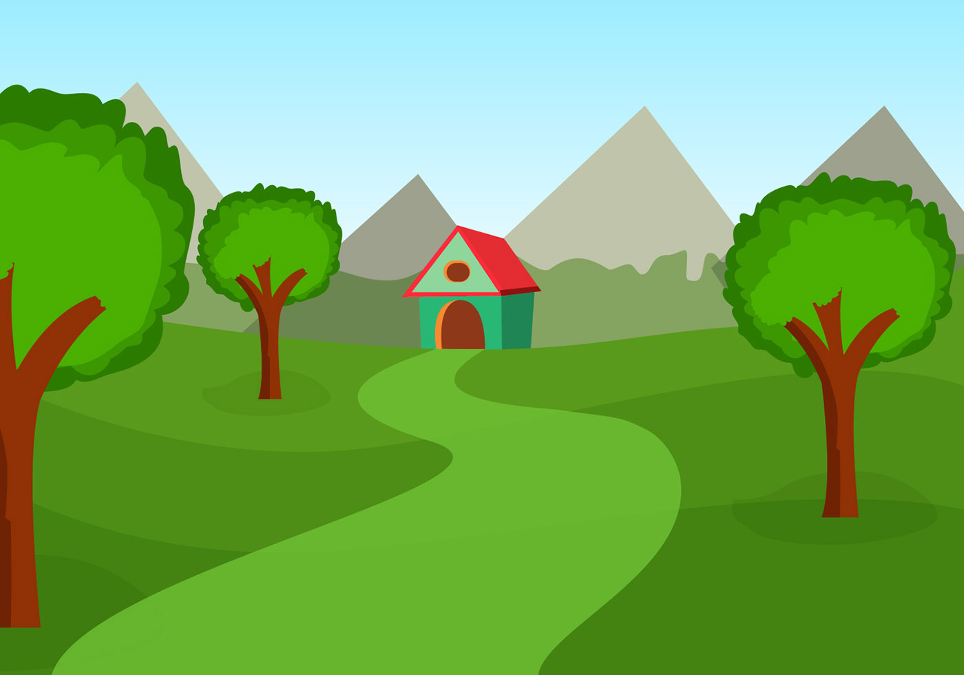 Landscape Illustration Vector Free: Download Free Vectors, Clipart