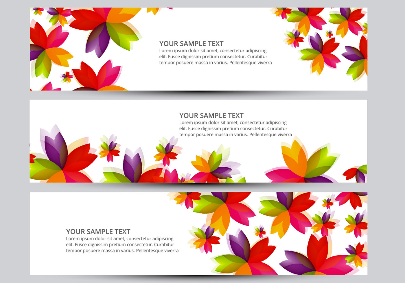 Flower Banner Vectors Download Free Vector Art Stock