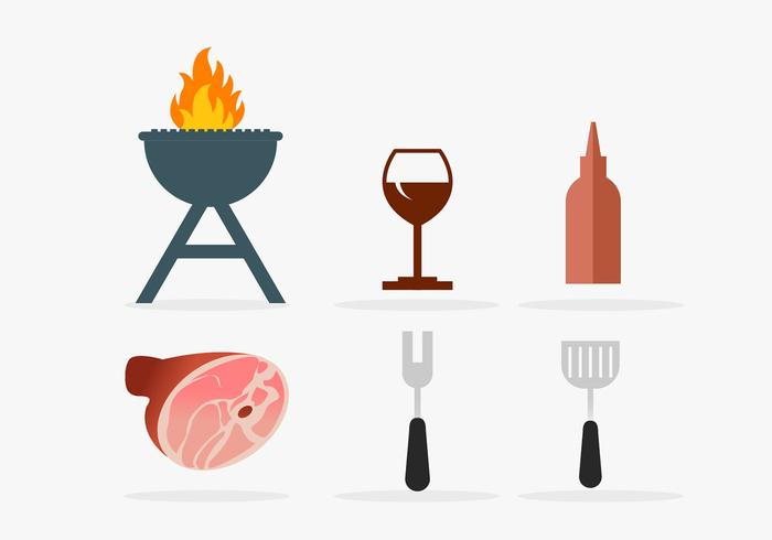 Pig roast vector design