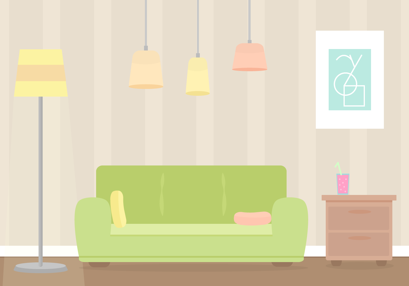 Apartment Bedroom Furniture Free Living Room Vector Download Free Vector Art Stock