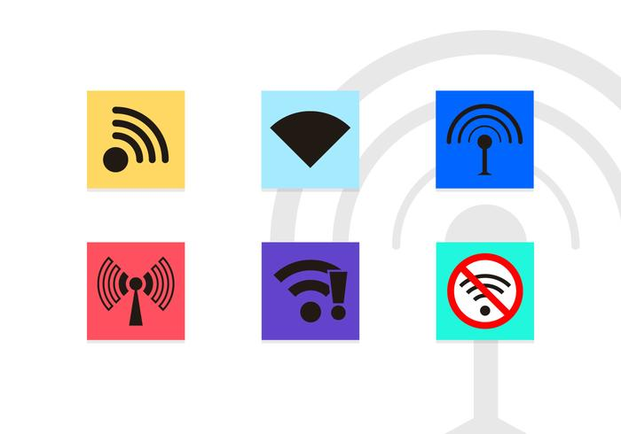 Wifi Symbolen Vector Pictogrammen