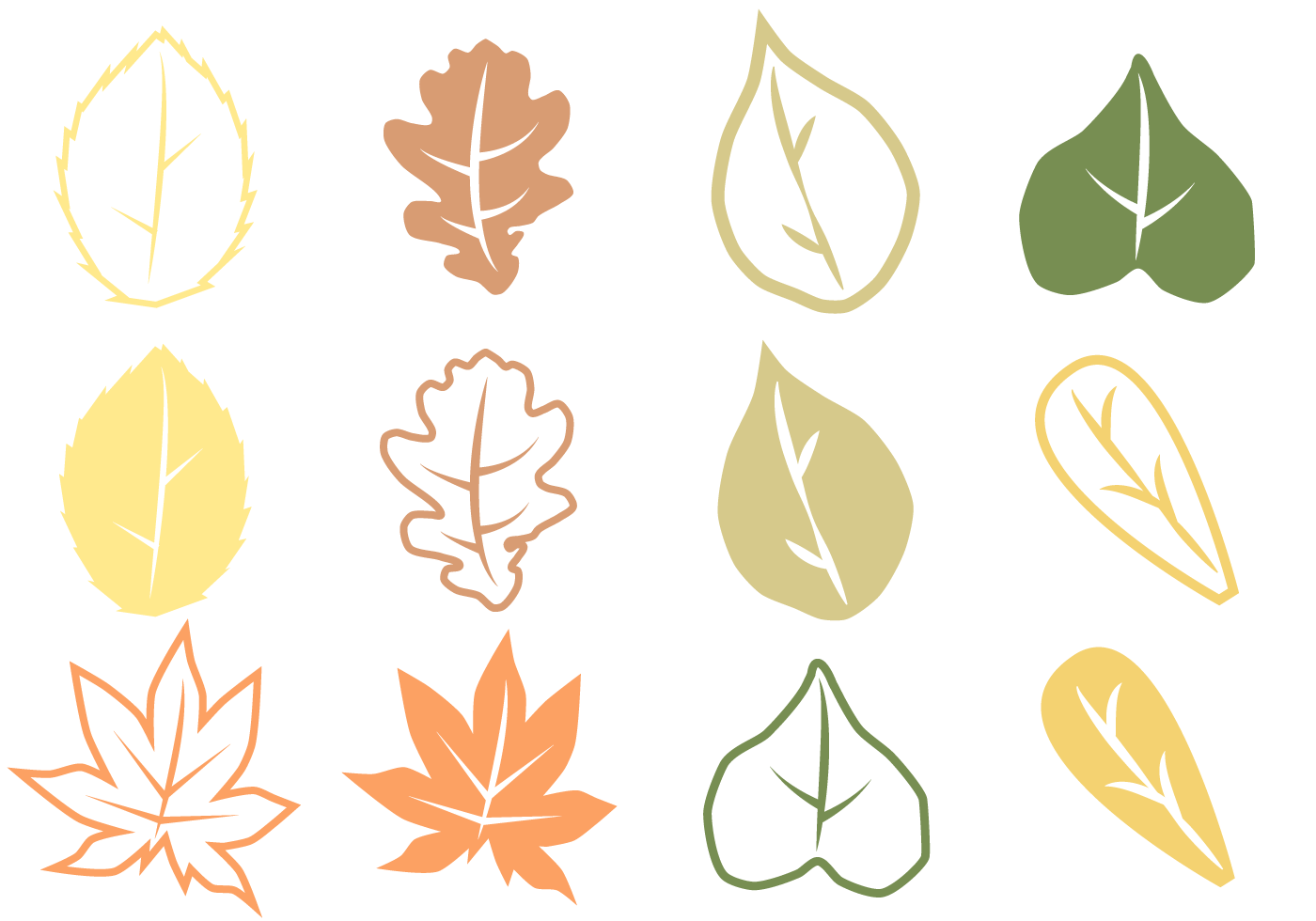free autumn leaves vector download free vector art oak tree clip art with moss oak tree clip art free images