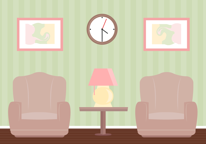 High Quality Free Living Room Vector