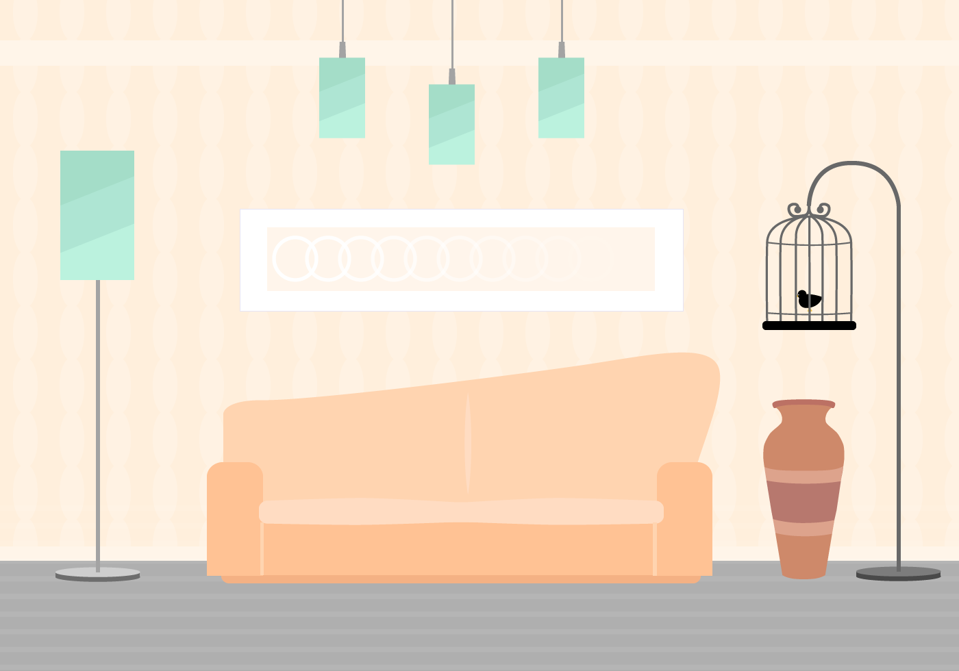Free Living Room Vector Download Free Vector Art Stock