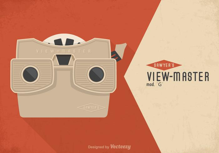 Gratis Vintage Viewmaster Vector Poster