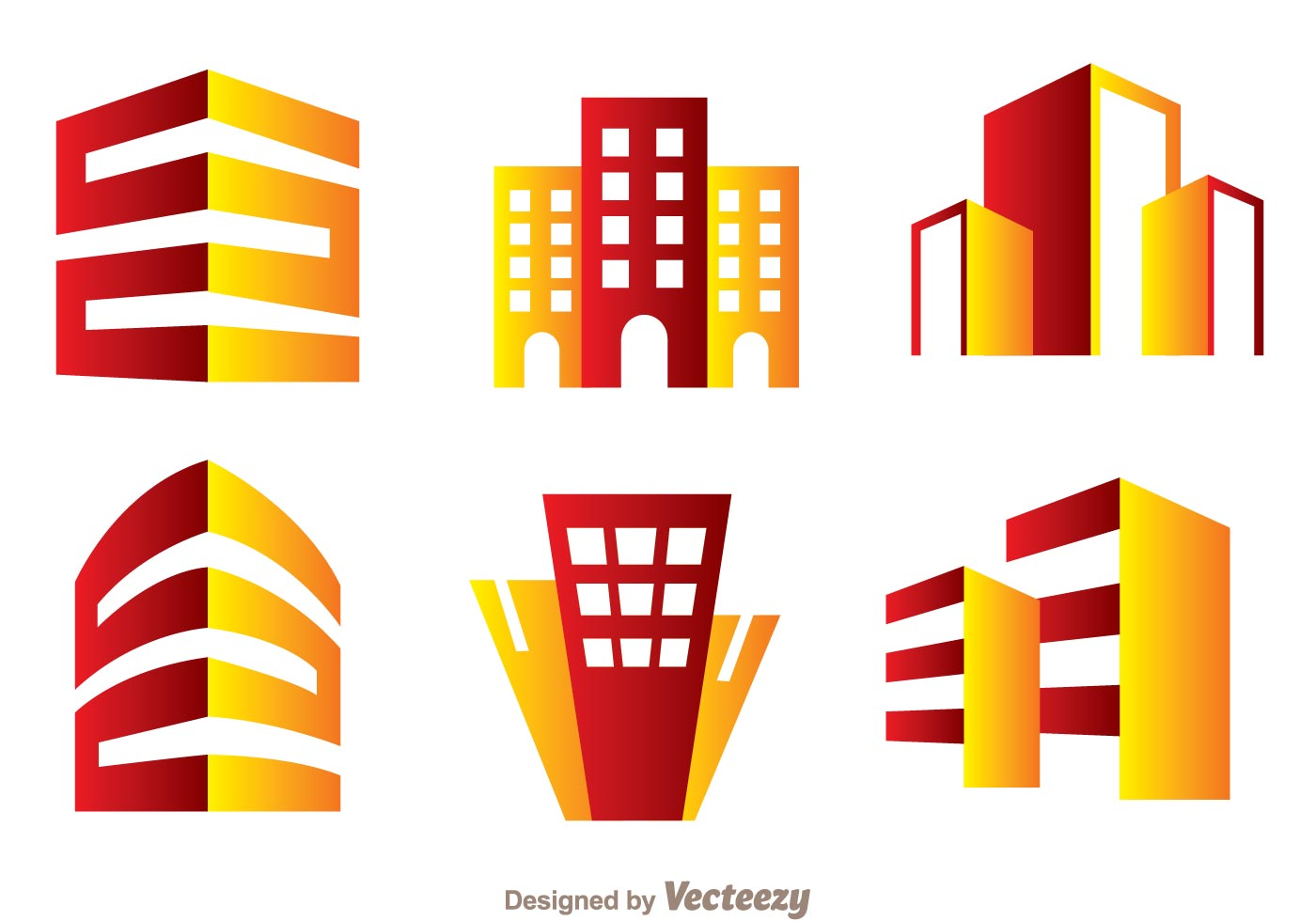red and orange hotels logo vector download free vector