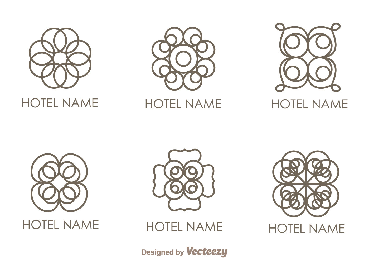 floral ornament hotel logo vectors download free vector