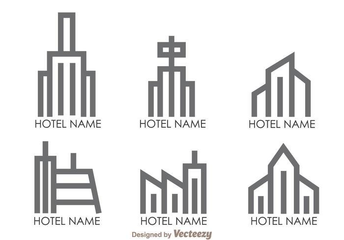Hotels Outline Logo Vectors