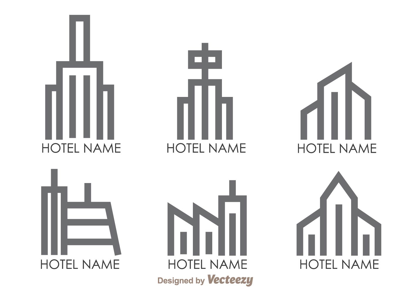 hotels outline logo vectors download free vector art