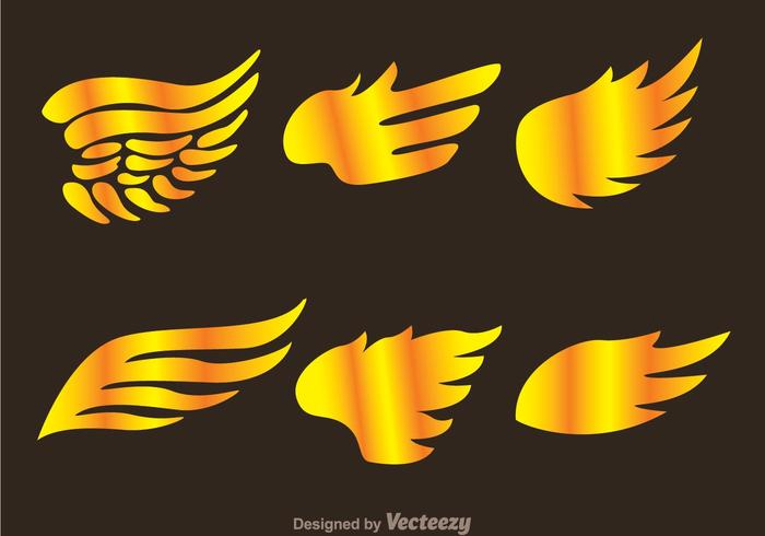 Gold Hawk Wing Logo Vectors