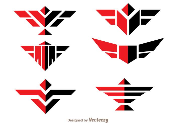 Symmetric Hawk Logo Vector
