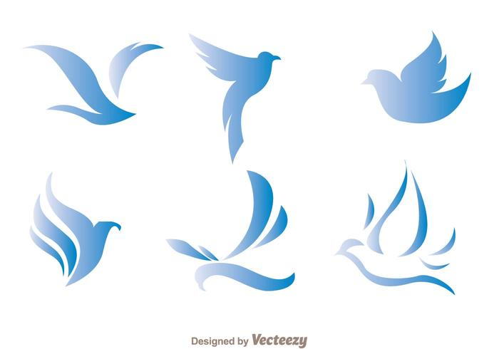 Blue Bird Logo Vectors
