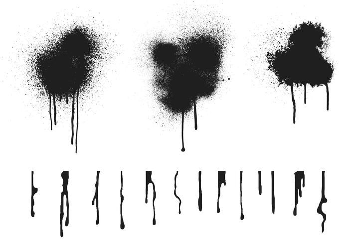 spraypaint drip vectors. Black Bedroom Furniture Sets. Home Design Ideas
