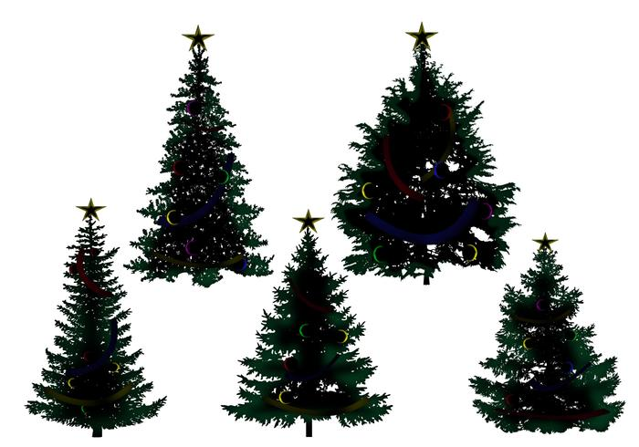 Christmas Trees Silhouette.Christmas Tree Silhouette Vectors Download Free Vectors