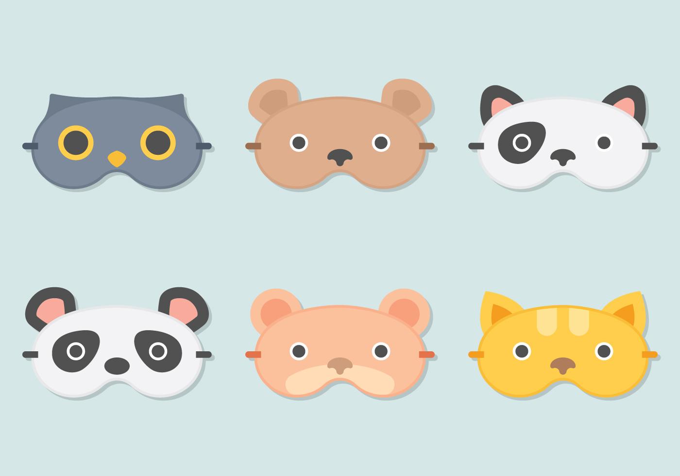 Máscara de sueño animal - Descargue Gráficos y Vectores Gratis