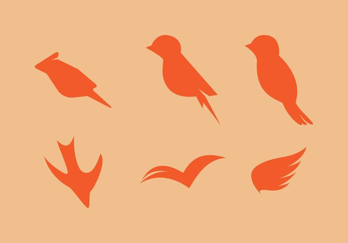 Free Minimaslitic Birds Vector Set