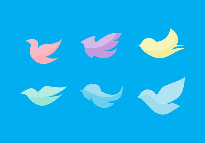Free Flat Birds Vector Set