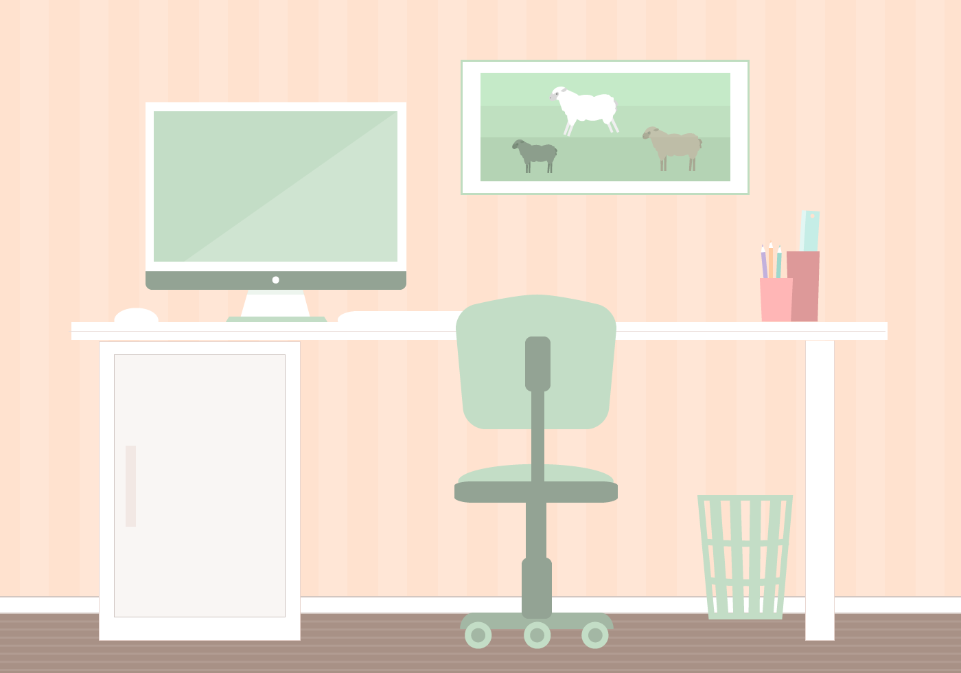 Free study room vector download free vector art stock for Apartment design vector