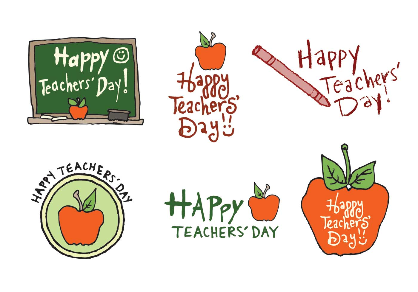 Free Teachers' Day Vector Series - Download Free Vectors ...